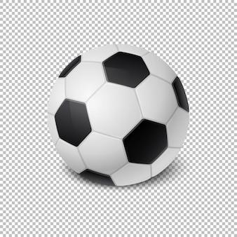 分離された現実的なサッカーボールアイコンのクローズアップ