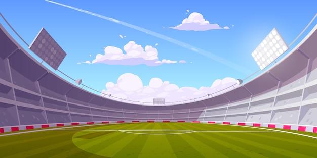 Реалистичная иллюстрация футбольного стадиона