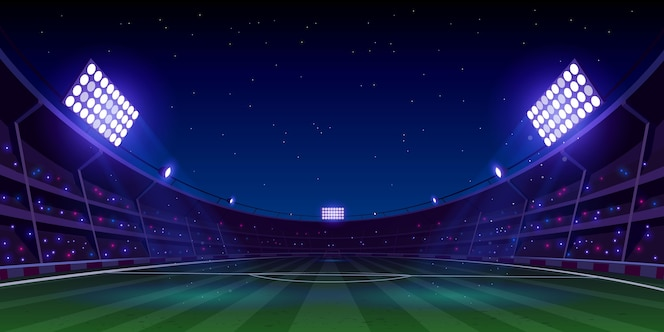 Realistic soccer football stadium illustration