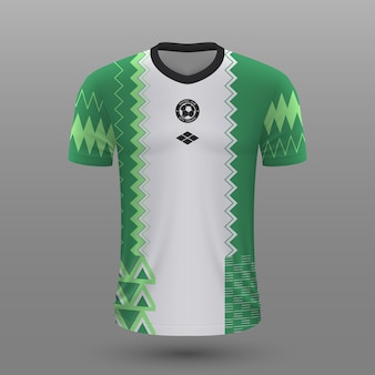 Realistic soccer jersey of nigeria