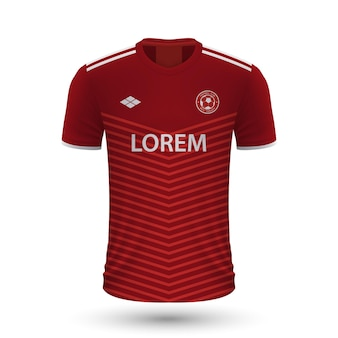 Realistic soccer shirt 2022, jersey template for football kit.