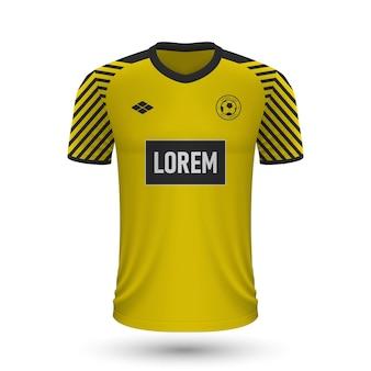リアルなサッカーシャツ2022、サッカーキットのジャージテンプレート。