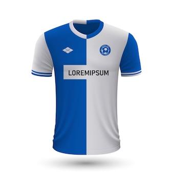 リアルなサッカーシャツalaves2022、サッカー用ジャージテンプレート