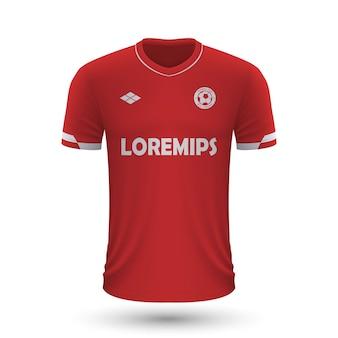 リアルなサッカーシャツアントワープ2022、フットバル用のジャージテンプレート
