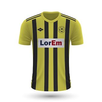 リアルなサッカーシャツaris2022、サッカーkのジャージテンプレート