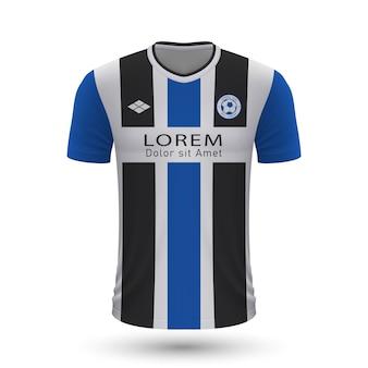 リアルなサッカーシャツアルミニアビーレフェルト2022、ジャージテンプレートf