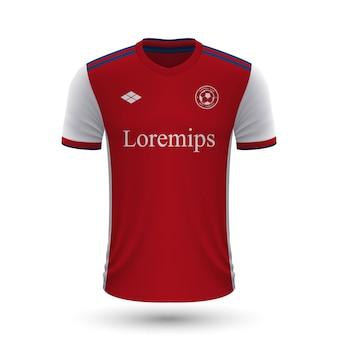 リアルなサッカーシャツアーセナル2022、フットバルのジャージテンプレート