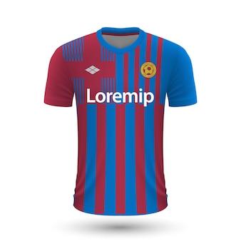 リアルなサッカーシャツバルセロナ2022、footbのジャージテンプレート