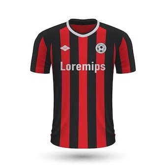 リアルなサッカーシャツバイエルレバークーゼン2022、ジャージテンプレートfo