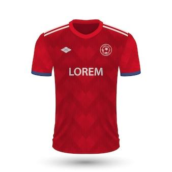リアルなサッカーシャツバイエルンミュンヘン2022、fのジャージテンプレート