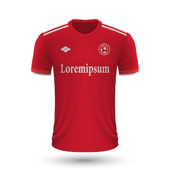 Realistic soccer shirt benfica 2022, jersey template for footbal