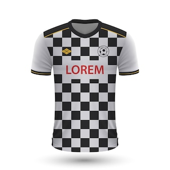 Realistic soccer shirt boavista 2022, jersey template for footba