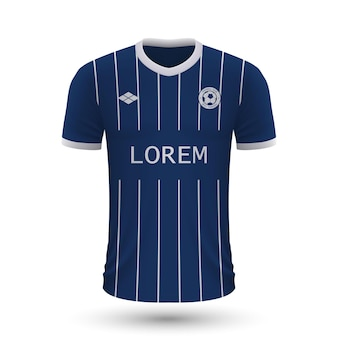 リアルなサッカーシャツボーフム2022、サッカー用ジャージテンプレート