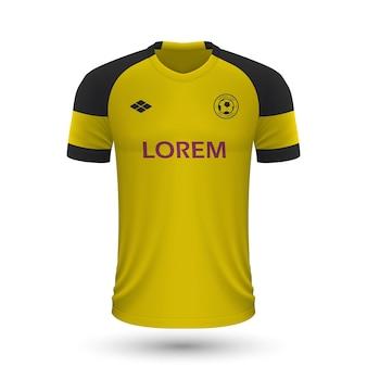 リアルなサッカーシャツボルシアドルトムント2022、ジャージテンプレートf