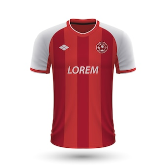 Realistic soccer shirt braga 2022, jersey template for football