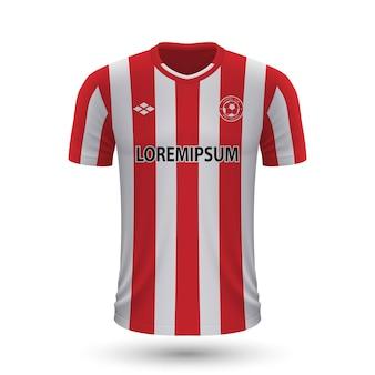 リアルなサッカーシャツブレントフォード2022、footbのジャージテンプレート