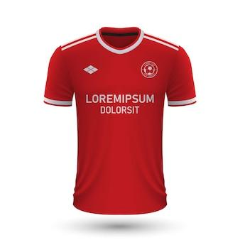 リアルなサッカーシャツブレスト2022、サッカー用ジャージテンプレート