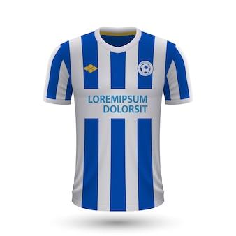 リアルなサッカーシャツブライトン2022、footbaのジャージテンプレート