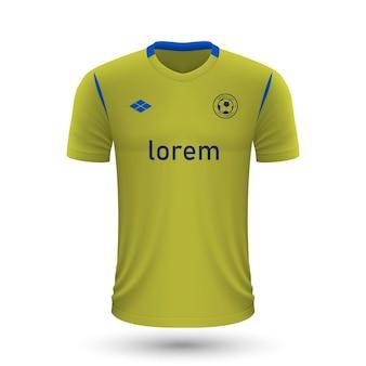 リアルなサッカーシャツcadiz2022、サッカー用ジャージテンプレート