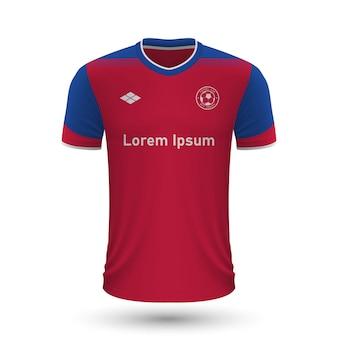 リアルなサッカーシャツクレルモンフット2022、fのジャージテンプレート