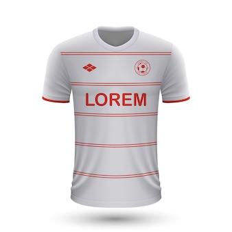 Реалистичная футбольная рубашка cologne 2022, шаблон майки для футбола