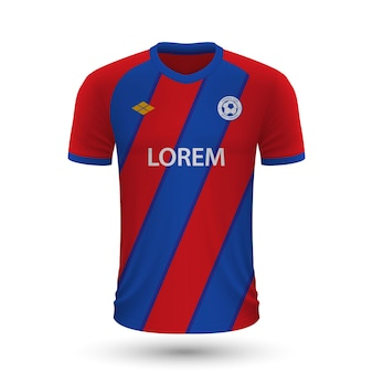 リアルなサッカーシャツクリスタルパレス2022、ジャージテンプレート