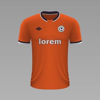 Реалистичная футбольная рубашка стамбул, шаблон трикотажа для футбольной формы