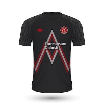 Реалистичная футбольная рубашка midtjylland 2022, шаблон джерси для foo