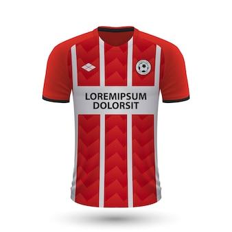 현실적인 축구 셔츠 psv eindhoven 2022, f용 저지 템플릿