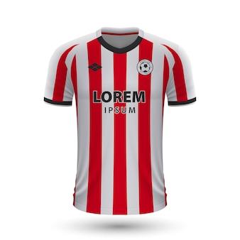 현실적인 축구 셔츠 스파르타 로테르담 2022, 저지 템플릿 fo