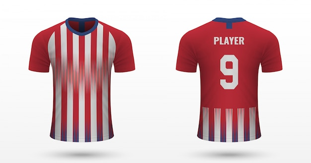 Realistic soccer shirt