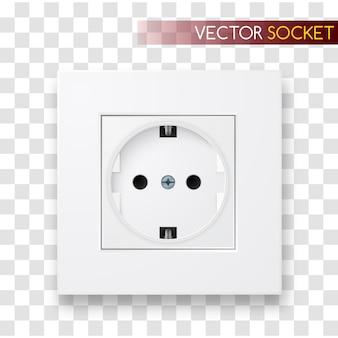 Realistic  socket. power outlet illustration.