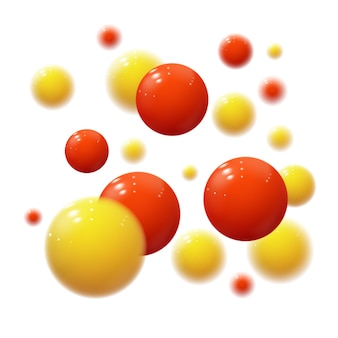 Реалистичные мягкие сферы. пластиковые пузыри. глянцевые шарики
