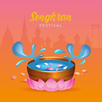 Realistic songkran celebration