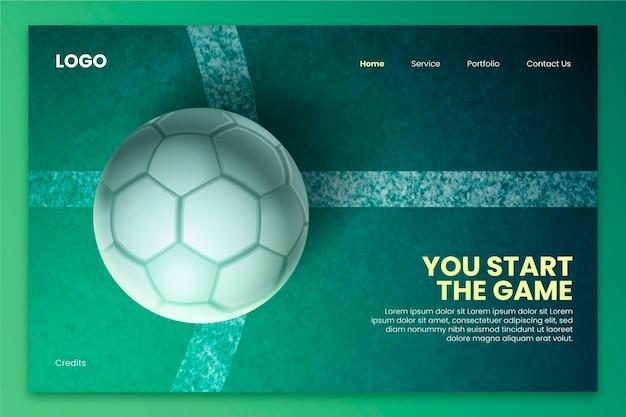 Реалистичный шаблон целевой страницы южноамериканского футбола