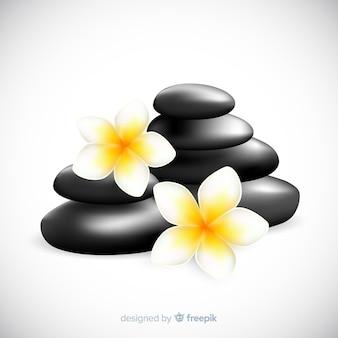 花とリアルなスパ石