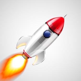 Realistic space rocket illustration design