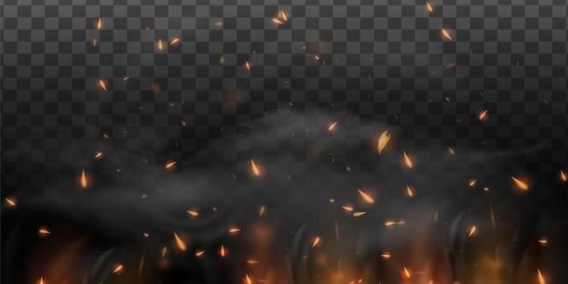 リアルな火の火花