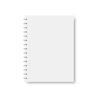 Realistic spiral notebook template