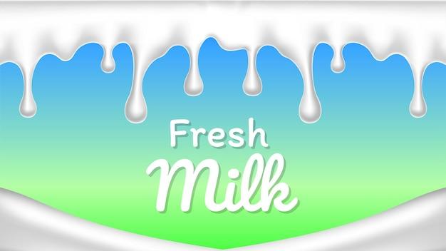 Realistic splash or drop fresh milk illustration vector