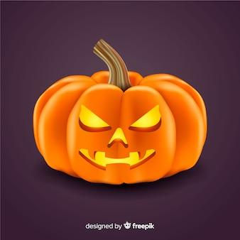 Realistic spooky halloween pumpkin