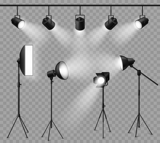 Реалистичная иллюстрация дизайна прожектора
