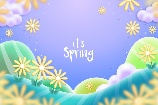 Realistic spring background concept