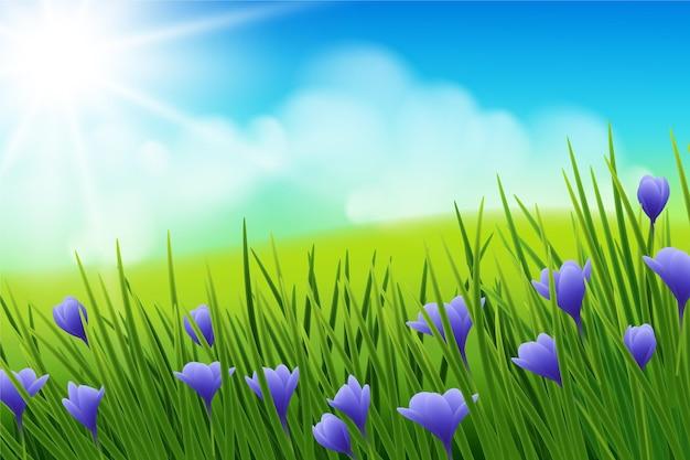 Реалистичный весенний фон
