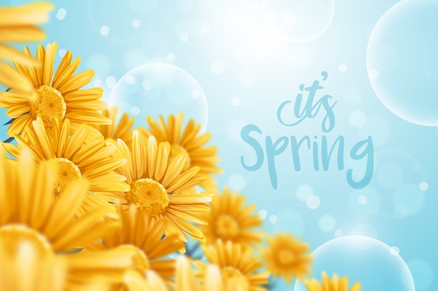 Realistic spring background