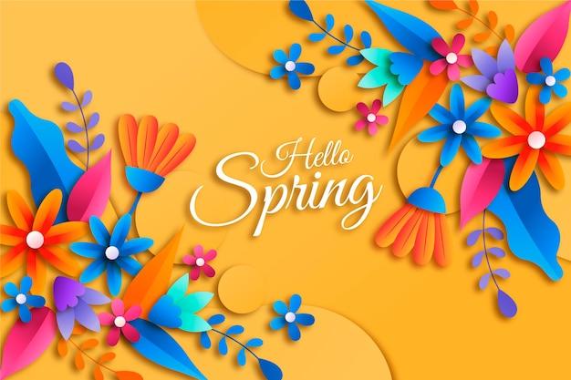 Sfondo primavera realistico