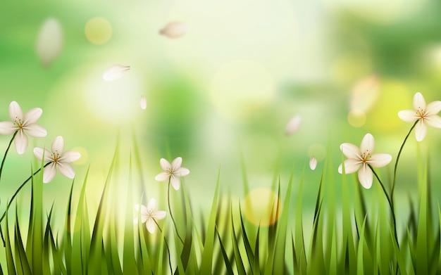 현실적인 봄 배경