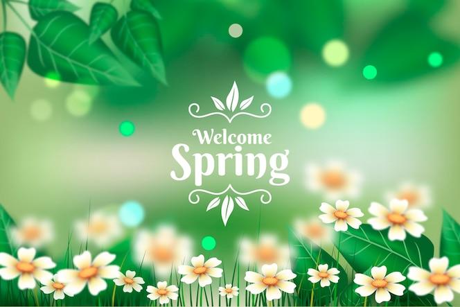現実的な春の背景