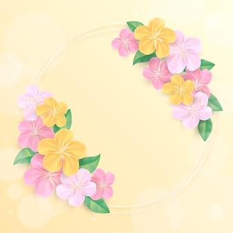 Реалистичная весенняя цветочная рамка