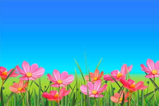 현실적인 봄 풍경 배경